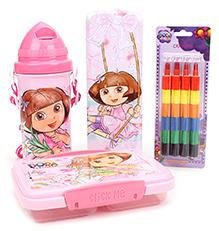 Dora The Explorer School Kit - Pack Of 4