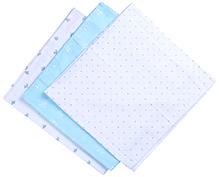 Piccolo Bambino Flannel Receiving Blanket Swaddle Wrap - Set of 3