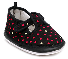 Littles Baby Booties With Musical Sound - Dot Print