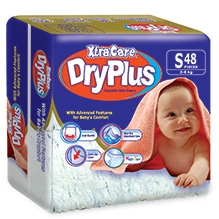 Xtra Care Dry Plus Disposable Baby Diapers Small - 48 Pieces