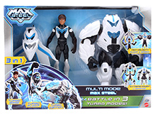 Max Steel 3 in 1 Battle Modes - Height 15.5 cm