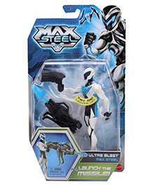 Max Steel Ultra Blast Launch The Missile - Height 15.5 cm