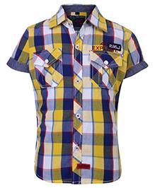 Ruff Shirt Half Sleeves With Front Pockets - Checks Theme