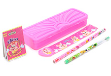 Mr. Clean Stationery Set Pink - 7 Pieces