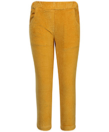 Little Kangaroos Solid Color Trousers - Velvet Texture