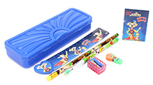 Mr. Clean Stationery Set Blue - 7 Pieces