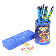 Mr. Clean Stationery Set - Blue - A Stationery Set Of Pen Stand