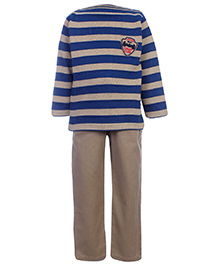 Noddy Full Sleeves Sweater And Trouser Set Stripe - Camp Club Patch