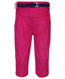 Little Kangaroos Solid Color Trouser With Belt