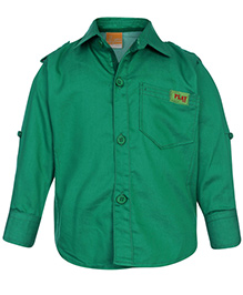 Little Kangaroos Full Sleeve Shirt - Solid Color