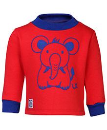 Little Kangaroos Full Sleeve Sweatshirt - Elephant Print