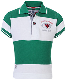 Ruff T-Shirt Polo Neck Dual Colour - Big Stripes