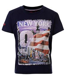 Ruff T-Shirt Half Sleeves - New York City Graphic Print