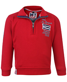 Ruff Sweatshirt With Front Zip Solid Colour - Florida patch