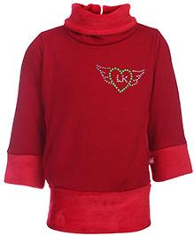 Little Kangaroos Full Sleeve Sweat Top - Red