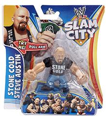 WWE Slam City Figure Stone Cold Steve Austin - Height 6.5 cm