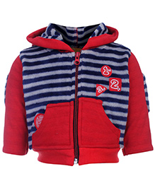 Little Kangaroos Full Sleeve Hooded Sweatshirt - Stripes