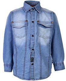 Little Kangaroos Full Sleeve Denim Shirt - Light Blue
