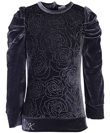 Little Kangaroos Puff Sleeve Top - Floral Sequence