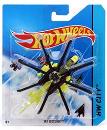 Hotwheels HW City HW Sky Scorcher Model - Yellow And Black
