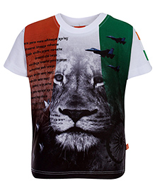 Little Kangaroos Half Sleeve T-Shirt - Proud To Be Indian