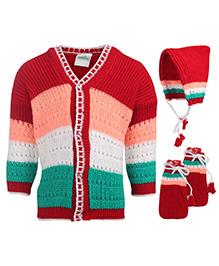 Babyhug Baby Winter Wear - Set Of 3