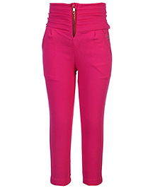Little Kangaroos Gathered Waist Trouser - Pink