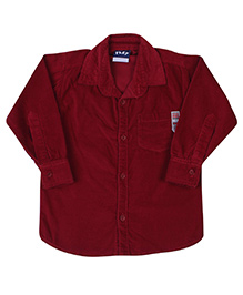 Little Kangaroos Full Sleeve Corduroy Shirt - Solid Color