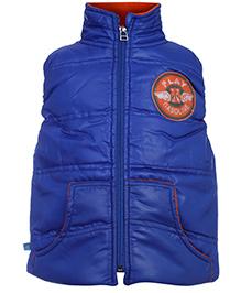 Little Kangaroos Sleeveless Quilted Jacket - Royal Blue