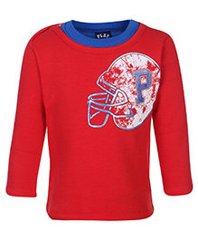 Little Kangaroos Full Sleeve Sweat T-Shirt - Helmet Print
