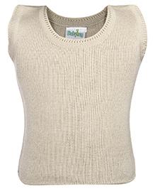 Babyhug Sleeveless Sweater - Beige