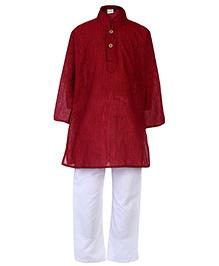 Babyhug Full Sleeves Kurta And Pajama Set - Red