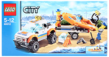 Lego City Coast Guard 4 x 4 And Diving Boat