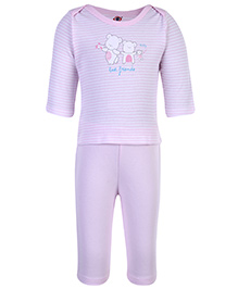 Zero Full Sleeves T-Shirt And Leggings Set - Teddy Print