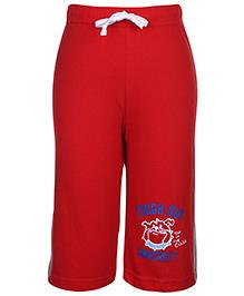 Taeko Drawstring Bermuda Shorts Red - Tough Guy Print