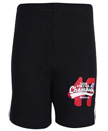 Taeko Shorts Black - Champion Print