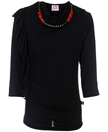 Little Kangaroos Full Sleeve Long Top With Necklace
