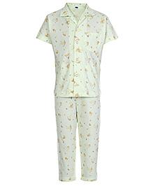 Teddy Half Sleeves Night Suit - Teddy Music Print