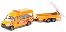 Siku Transporter With Traffic Control Trailer - Yellow