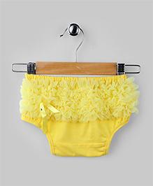 Chiffon Ruffled Baby Bloomer - Yellow