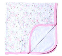 Zero Baby Wrapper Pink And White - Teddy Print