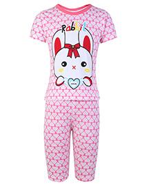 Doreme Top Short Sleeves And Legging - Rabbit Print