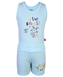Bumchums Sleeveless T-Shirt And Shorts - Babies Print