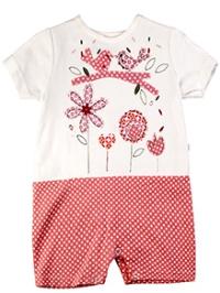 Littleopia Half Sleeve Jumpsuit Romper - Polka Dot