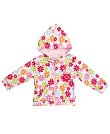 Littleopia Full Sleeve Floral Jacket With Hood