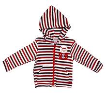 Littleopia Full Sleeve Hooded Jacket - Stripes