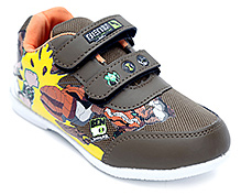 Ben 10 Sports Shoes Double Strap - Brown