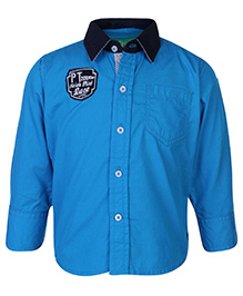 Palm Tree Full Sleeve Shirt - Solid Color