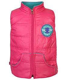 Little Kangaroos Sleeveless Quilted Jacket - Pink