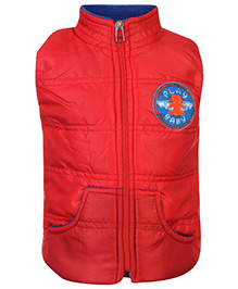 Little Kangaroos Sleeveless Quilted Jacket - Red